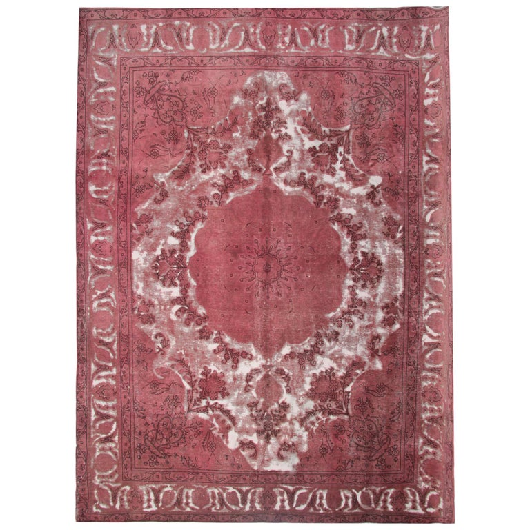 Persian Vintage Oriental Rugs, Red Rug, Persian Carpet