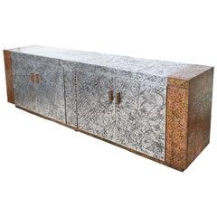 Huge Arenson Studios Embossed Metal Cabinet