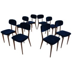 Ico Parisi, Cassina, Italy, 1955 Rare Set of Eight Chairs Mod. 691