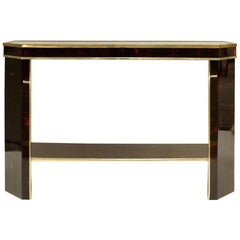 Art Deco Style Console, Painted in Tortoiseshell Way, circa 1980