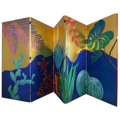 Goldleaf Screen Painted by Pablo Piatti, Antwerp, 2017