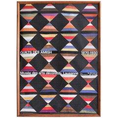 Vintage Jeker Werner Quilts Exhibition Poster