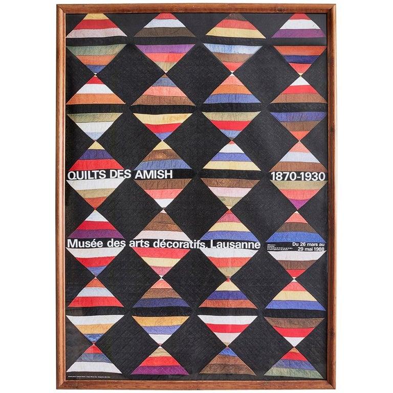 Vintage Jeker Werner Quilts Exhibition Poster For Sale
