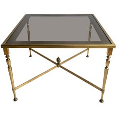 Vintage French Gilt Metal Coffee Table