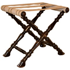 19th Century Turned Folding Luggage Stand