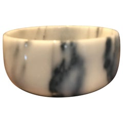 Italian White Carrera Marble Bowl
