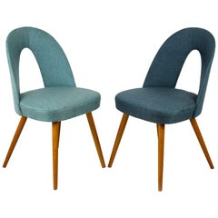 Dining Chairs in Blue and Turquoise by Antonin Suman, 1960s, Set of Two