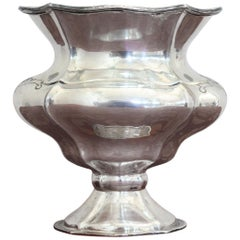 20th Century Italian Sterling Silver 800 Vase, 1970s