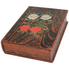 19th Century Original Painted Bible Box