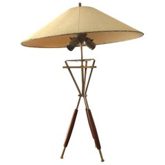 Tripod Table Lamp Attributed to Gerald Thurston for Lightolier, 1950s