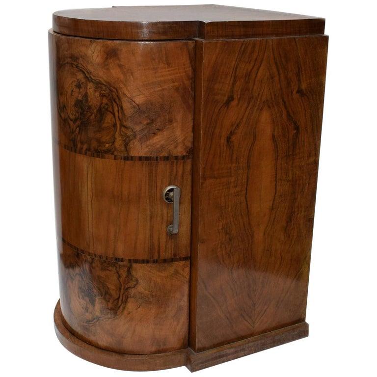 Art Deco Beautifully Figured Walnut Cupboard