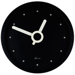 Memphis Wall Clock, Black and White, du Pasquier and Sowden x Neos, Italy, 1980s