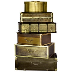 Bohème Luxury Safe and Chest in Polished Brass by Boca do Lobo