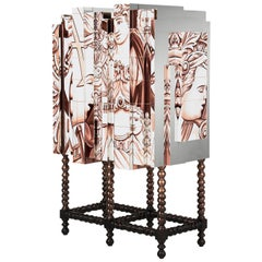 D. Heritage Cabinet with Hand-Painted Tiles & Copper Leaf Detail by Boca do Lobo