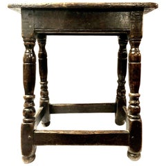 A 17th Century Charles II Oak Joint Stool