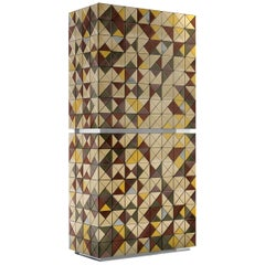 Pixel Anodized Cabinet with Multicolored Metallic Detail by Boca do Lobo