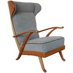 Wingback Armchair by Karl Nothhelfer for Schörle & Gölz, 1950s