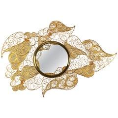Filigree Mirror in Gold Plated Brass by Boca do Lobo