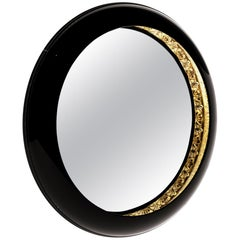 Ring Mirror in Lacquered Wood by Boca do Lobo