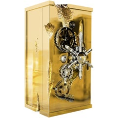 Millionaire Luxury Safe with Polished Brass Finish by Boca do Lobo