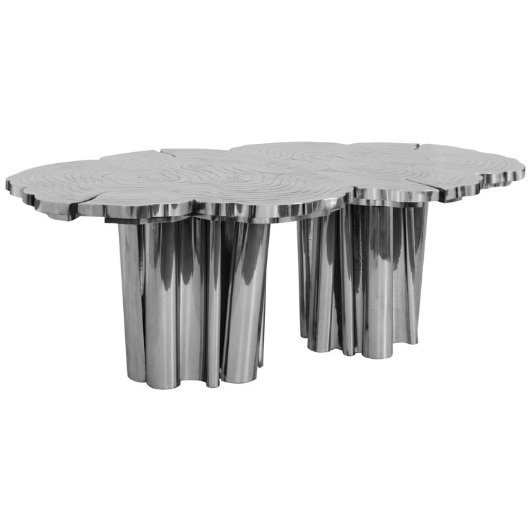 Fortuna Dining Table with Stainless Steel Finish by Boca do Lobo