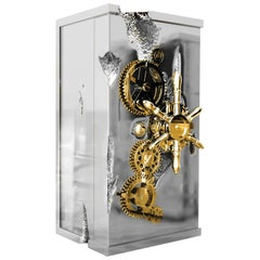 Millionaire Silver Luxury Safe with Stainless Steel Finish by Boca do Lobo
