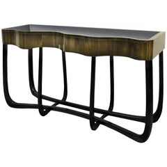 Sinuous Patina Console Table in Black by Boca do Lobo