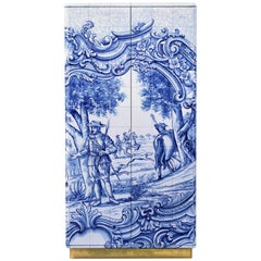 Heritage Cabinet in Blue Hand-Painted Tile by Boca do Lobo