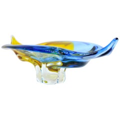 Large Vintage Murano Glass Bowl, 1950s