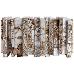Heritage Sepia Sideboard with Hand-Painted Tile Detail by Boca do Lobo