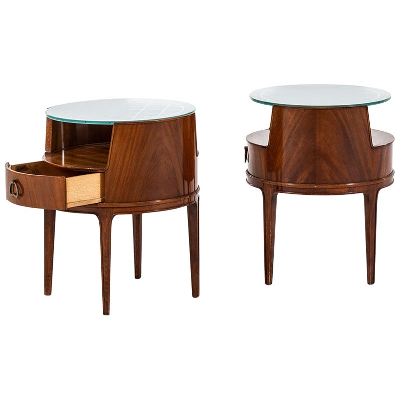 Axel Larsson Bedside or Side Tables by Bodafors in Sweden