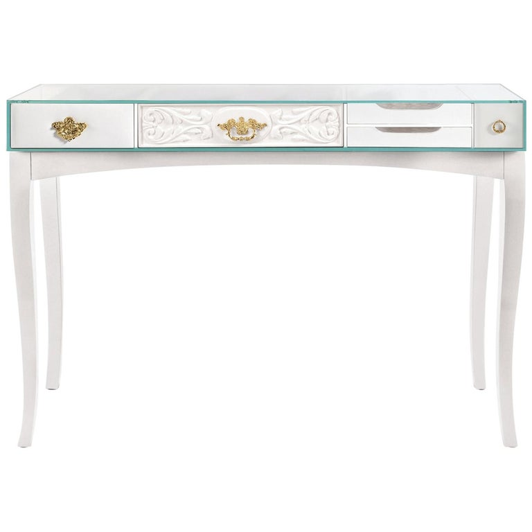 Soho White Lacquered Console Table By Boca Do Lobo For
