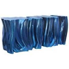 Monochrome Blue Sideboard in Molded Fiberglass by Boca do Lobo