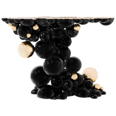 Newton Black Console Table in Lacquered Aluminum by Boca do Lobo
