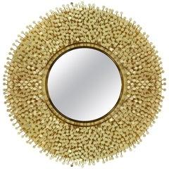Robin Mirror in Polished Brass by Boca do Lobo