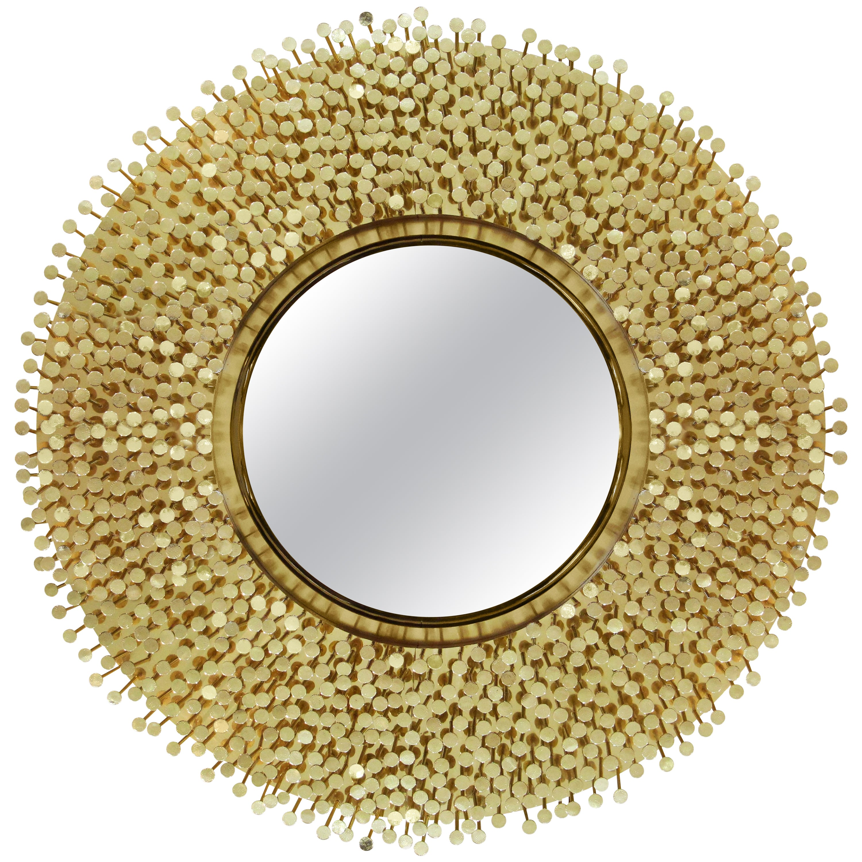 Robin Mirror in Polished Brass