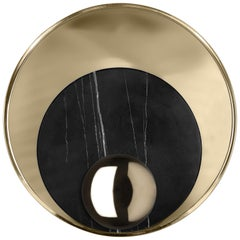 Metamorphosis Small Sconce in Gold-Plated Brass and Marble by Boca do Lobo