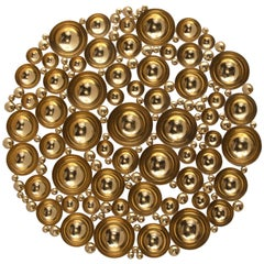Newton Mirror in Gold-Plated Brass by Boca do Lobo