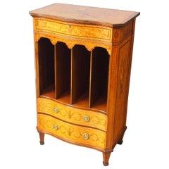 George III Style Inlaid Music Cabinet