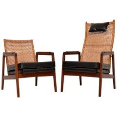 Pair of 1960s Vintage Dutch Armchairs by PJ Muntendam for Gebroeders