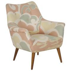Mid-Century Modern Armchair on Maple Splayed Legs, circa 1960s