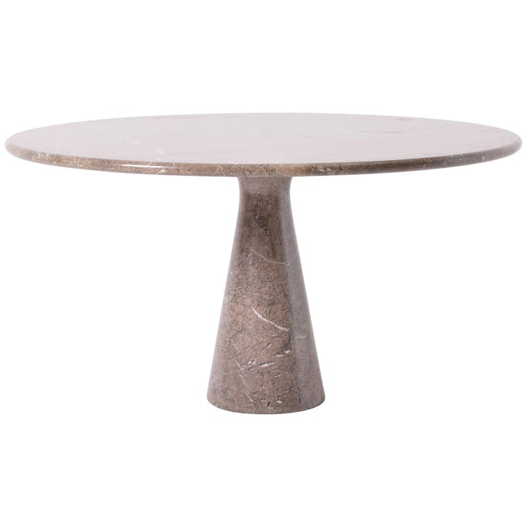 1970 Round Marble Table, by Angelo Mangiarotti for Skipper
