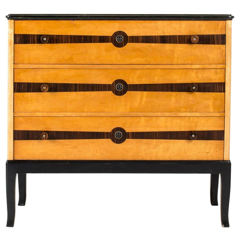 Midcentury Chest of Drawers by Erik Chambert For Sale