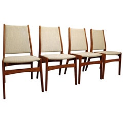 Set of Four Danish Modern Anderstrup Mobelfabrik Teak Dining Chairs