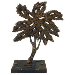 "Bronze Tree Sculpture ""Albero"" Mario Rossello, Italy"