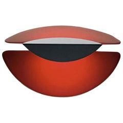 Barovier & Toso Glassa Contemporary Murano Glass Wall Light in Red, in Stock
