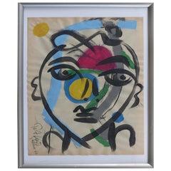 1962 Abstract Mixed-Media Painting by Peter Robert Keil, Palma de Mallorca