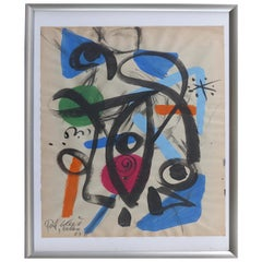 1963 Abstract Mixed-Media Painting by Peter Robert Keil, Mallorca, Spain
