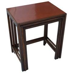 Modernist Nesting Tables Designed by Jindrich Halabala, Set of Three, 1934