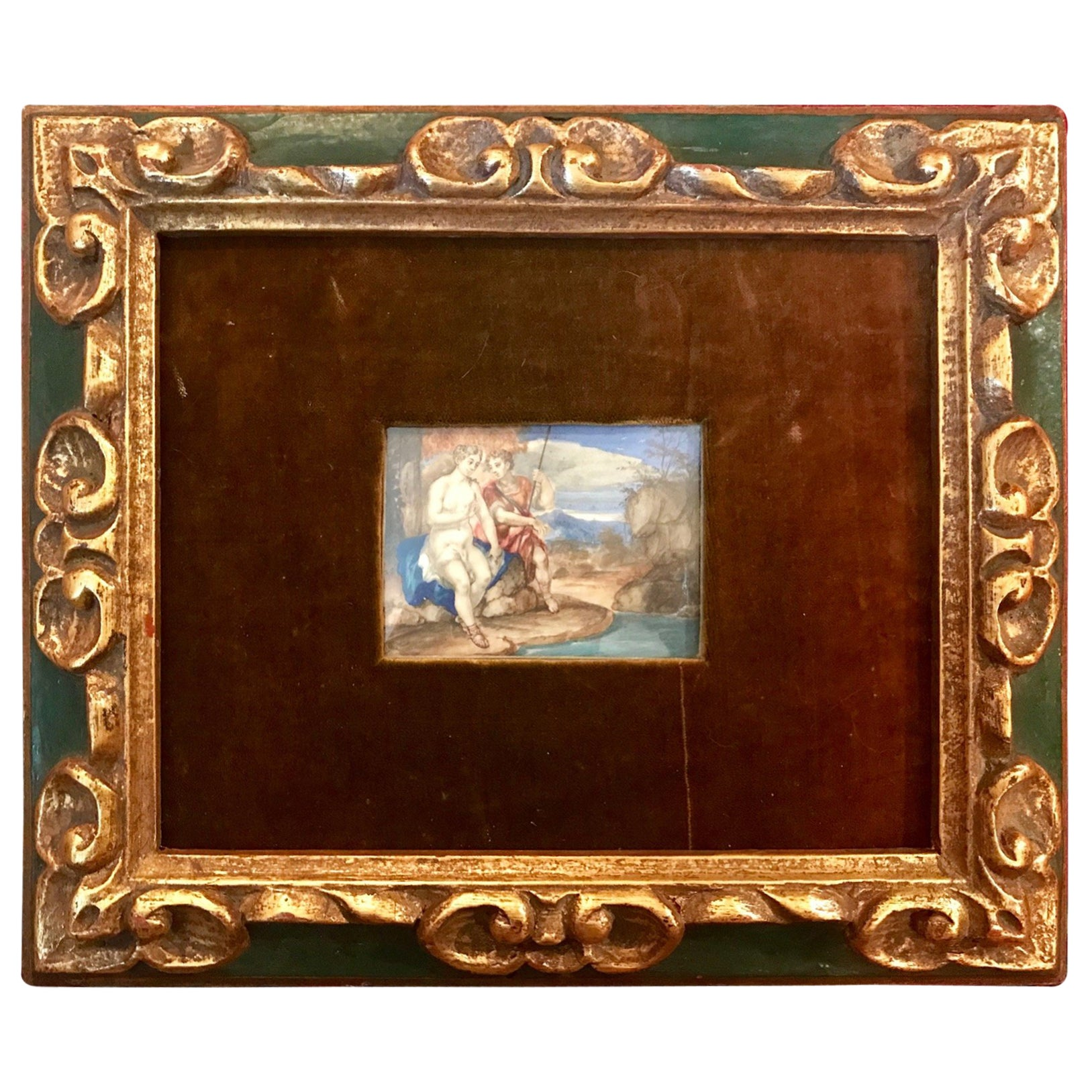 18th Century French Miniature Genre Painting